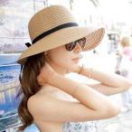 帽子 レディース 夏 麦わら帽子 UV 大きいサイズ つば広 ハット UVカット 100% ストローハット uvカット帽子 おしゃれ