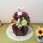 おむつケーキ mini チョコ ミニブーケ付 出産祝いに コスパ