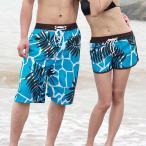 Yahoo!アトランティスペアショートパンツ ペアサマーパンツ  ペアビーチ  カップル水着  サーフパンツ  ペア水着 ミズギ  ペアルック メンズ  レディース 海外旅行 短パン ハワイ風
