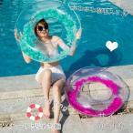 浮き輪 大人 子供 透明 大人用 フェザーフロート フロート 可愛い おしゃれ おもしろ 羽根 羽入り 可愛い フロート 浮き輪 浮輪 かわいい うきわ