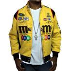 ナスカー  ジャケット jhデザイン NASCAR メンズ m&m's エムアンドエムズ●JK-208