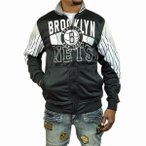 ショッピングトップス ブルックリンネッツ ジャージートップス ZIPWAY ジップウェイ NBA brooklynnets 黒 白 ブラック ホワイト バスケ●JS−44