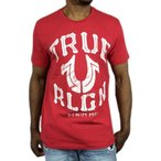 トゥルーレリジョン Tシャツ TRUE RELIGION 半袖 レッド 赤 ロゴ メンズ 春夏●ts-a31