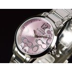 COACH コーチ New Classic Signature ニュー クラシック シグネチャー 14501617 ピンク×シルバー レディース 腕時計