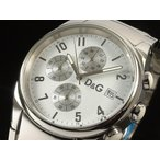 D&G ドルチェ&ガッバーナ 腕時計 SANDPIPER サンドパイパー 3719770110 ホワイト クロノグラフ メンズ 即納