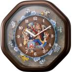 RHYTHM リズム時計 ONEPIECE ワンピースからくり時計 4MH880-M06 クォーツ