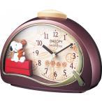RHYTHM リズム時計 めざまし時計 スヌーピーと仲間たち スヌーピーR506 4SE506MJ09 クォーツ