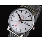 MONDAINE モンディーン Evo エヴォ ビッグデイト A627-30303-11SBM ホワイト×シルバー メンズ A627.30303.11SBM 腕時計 即納