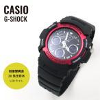 ショッピングShock CASIO カシオ 腕時計 G-SHOCK ジーショック Gショック アナログ/デジタルコンビ AW-591-4A ブラック×レッド 海外モデル 送料無料 即納