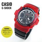 5倍ポイント!CASIO カシオ G-SHOCK Gショック ソーラー電波 AWG-M100SRB-4A ブラック×レッド 腕時計 メンズ
