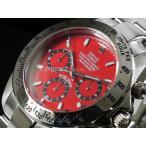 Christiano Domani クリスチャーノ・ドマーニ 腕時計 CD2018-8 レッド×シルバー メンズ 送料無料
