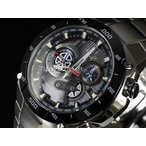 CASIO カシオ 腕時計 EDIFICE エディフィス ソーラー マ6電波 EQW-M1100DB-1A ブラック×シルバー 海外モデル 即納