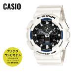 ショッピングShock CASIO カシオ 腕時計 G-SHOCK ジーショック Gショック デジアナ Newコンビネーションモデル GA-100B-7A ブラック×ホワイト 海外モデル 送料無料 即納