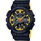 ショッピングShock CASIO カシオ G-SHOCK G-ショック MIST TEXTURE GA-110BY-1A ブラック×イエロー メンズ 腕時計 即納