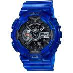 ショッピングShock CASIO カシオ G-SHOCK Gショック コラボレーションモデル GA-110CR-2A ブラック×ブルー 腕時計 即納