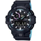 ショッピングShock CASIO カシオ G-SHOCK G-ショック GA-700PC-1A ブラック×ライトブルー 腕時計 メンズ 即納