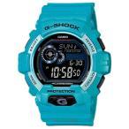 ショッピングShock CASIO カシオ G-SHOCK Gショック G-LIDE G-ライド GLS-8900-2 ブラック×ライトブルー 腕時計 即納