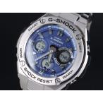 ショッピングShock CASIO カシオ G-SHOCK G-ショック G-STEEL Gスチール GST-W110D-2A ブルー×シルバー 腕時計 海外モデル メンズ 即納