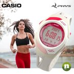 CASIO カシオ 腕時計 PHYS フィズ STR-300-7 ランニングウォッチ ピンク×グレー レビューを書いて送料無料 即納
