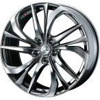 WEDS ウェッズ LEONIS レオニス TE ティーイー アルミホイール 単品1本 18インチ ブラック系 7.0J PCD114.3 5穴 スポーク ミニバン・セダン・ワゴン
