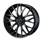 weds ウェッズ LEONIS レオニス MX エムエックス アルミホイール 単品1本 18インチ ブラック系 7.0J PCD114.3 5穴 メッシュ ミニバン・ワゴン・セダン