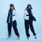 キッズダンス衣装 ヒップホップ HIPHOP セットアップ ベスト チアガール 長袖 パンツ 子供服 女の子 男の子 ステージ衣装 練習着 体操服