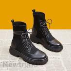 ブーツ マーティンブーツ ショートブーツ レディース ニットブーツ リブニットブーツ 靴 レディースシューズ 美脚 歩きやすい 疲れない 通学カジュアル