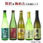 お酒  飲み比べ  送料無料 日本酒 5本セット 高級料亭に提案 贅沢を極めた日本酒 豪華飲み比べセット 720ml×5本