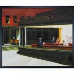 絵画「overstockArt エドワード ・ ホッパー夜ホークス、1942年に 20 インチ 24 インチ フレーム油彩キャンバス額 正規輸入品