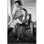 ポスター有名な画家フリーダ ・ カーロのビンテージ写真引用ポスター ディエゴ ・ リベラ 24 X 36 ホット 正規輸入品