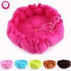 ペット用品・ベッド BOSUN(TM) キャンディーの色はカボチャのペットおこなっ犬のベッドの子犬犬巣クッション ラウンド PP の綿パッド入り巾着 正規輸入品