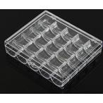 ボックス アート CHENGYIDA 2 個入りプラスチック ボビン ケース ボビン ストレージ ボックス ワイヤー スプール主催者の場合、空のボックスが保持する 25