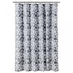 バスルーム部屋の必需品エレガントな生地綿ポリエステル ブレンド ヘビーデューティ シャワー カーテン - 三角形灰色の色合い 正規輸入品