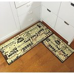 "キッチンEUCH Non-slip Rubber Backing Carpet Kitchen Mat Doormat Runner Bathroom Rug 2 Piece Sets,15""x47""+15""x23"" (coffee bean) 正規輸入品"