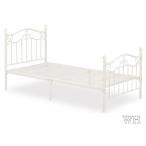(カジュアルベッド KB-038S)シングルサイズ(BK/PI/WH)アイアンベッド/カジュアル/ホワイト/ブラック/ピンク/シングル/寝室/部屋/姫系/シンプル