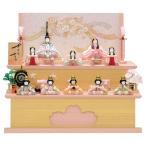 雛人形 ひな人形 一秀 木目込み 収納飾り 十人飾り 木目込み人形 (十人飾(17-1号・収納飾)/C-110)
