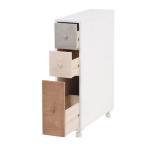 トイレラック wood products MTR-6453WH 16ラック 16幅 16cm 隙間収納 かわいい トイレ収納 ペーパーラック 清潔感 収納 ウッドプロダクツ