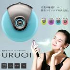 スマホ  スキンケア URUOI ナノミスト ミニスチーマー 水 美容液 高速振動 自動 乾燥 リラックス 加湿器 健康 iPhone Andoroid ET-WT808