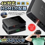HDMI 分配器 4K X 2K 1入力 2出力 HDMIスプリッタ 切り替え スイッチ HDMI 変換 フルHD 3D 1080P 4KSPLITA