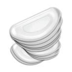 眼鏡鼻パッド10個セット クリア メガネ 鼻 パッド シール 眼鏡 鼻盛りまめパッド 眼鏡鼻パッド 柔らかい シリコン 10-MEGAHAN-CR