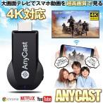 4K Anycast ドングルレシーバー モード切替え不要 簡単接続 大画面 4K高画質動画転送 ミラーキャストレシーバー ワイヤレス 無線 HDMIアダプター ANYGOLD