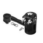 汎用 オイルキャッチタンク 300ml ブラック 円柱型 アルミ製 フリーザーフィルタ バイク 車 カー用品 OILTK300-BK