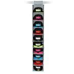 帽子 10個 吊り下げ収納 ディスプレイ キャップラック 折りたたみ 多機能 大容量 10段 省スペース 収納 CAP10RACK