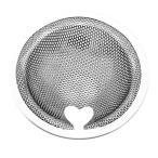 バスルーム用 排水溝 ゴミ受け 浴室 ヘアキャッチャー パンチング ステンレス 抗菌 ゴミカゴ 排水フィルター 排水口サイズ:80-100mm BATHCAT