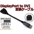 即決 DisplayPort to DVI-D 変換ケーブル(DP to DVI アダプタ)