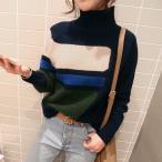 ショッピングタートルネック レディース セーター ニット タートルネック タートルセーター リブ編み ゆったり 韓国デザインおしゃれ  2色 20代 30代 40代