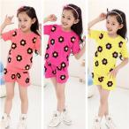 ショッピング子供服 韓国子供服  子供服 キッズ 半袖 Tシャツズボンセット 児童用 韓国こども 可愛い子供服 女の子 女児 中大童  サイズ:110−150 3色 kissjajahouse