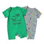 Baby nest ベビー服 ロンパース 男の子 女の子 カバーオール ショートオール 肌着 夏服 新生児服 半袖 肩開き 綿 赤ちゃん服