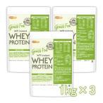 GRASS FED WPI instant ホエイプロテイン 1kg×3袋 GMO Free グラスフェッド  [02] NICHIGA(ニチガ) 牛成長ホルモン不使用