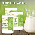 【送料無料!(北海道・九州・沖縄を除く)】 GRASS FED WPI instant ホエイプロテイン 1kg×3袋 GMO Free グラスフェッド  [02] NICHIGA(ニチガ)